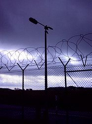Razor wire at RNAS Culdrose