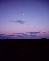 The moon over the Penwith moorland