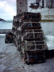 Lobster pots at Port Isaac