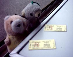 Bears with tickets
