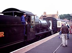 A driver manoeuvers at Bishops Lydeard station