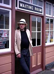 Me outside the Bishops Lydeard waiting room