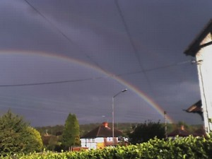 Rainbow today in Wooburn Green