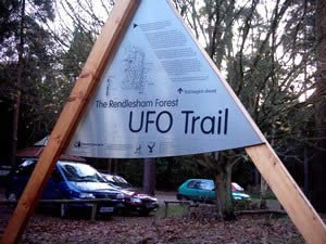 Start of the UFO trail