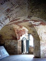 Brick vaulted ceiling