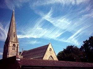 Summer sky over St George's Church, Hanworth