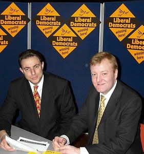 Your author with Charles Kennedy, 2001