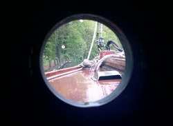 Rain through the cabin porthole