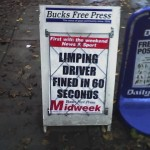 Limping driver fined in 60 seconds