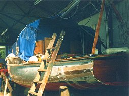 New planking being fitted to the stern.