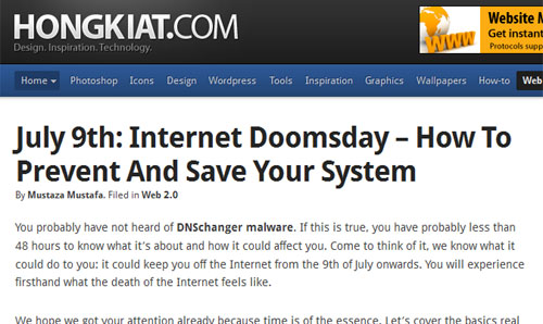 July 9th: Internet Doomsday – How To Prevent And Save Your System