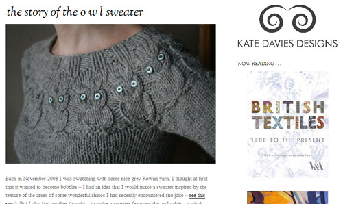 The story of the o w l sweater