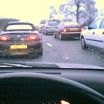 Traffic jam on the A303